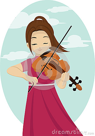 Violinist clipart Girl – Violinist Art Clipart