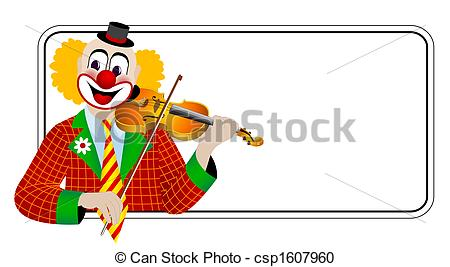 Violinist clipart school orchestra Csp1607960 the the Clown violinist