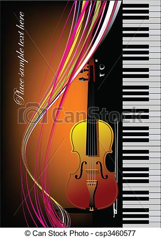 Violinist clipart school orchestra · colored for Vector book