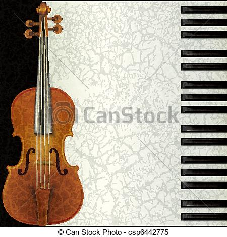Piano clipart violin Violin background music and of