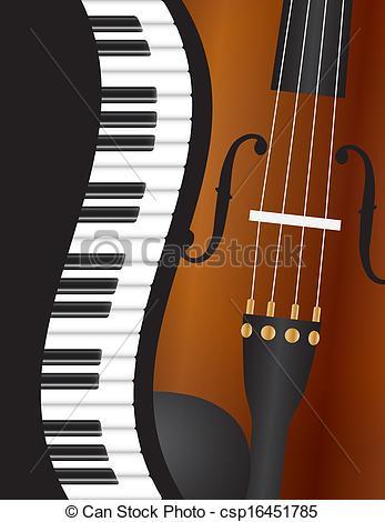 Piano clipart violin Piano Violin Border csp16451785 Wavy