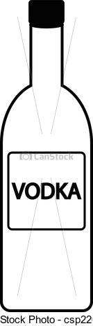 Wodka clipart Vodka on of Vectors white