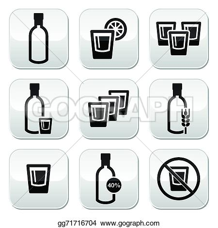 Vodka clipart alcohol Vector EPS alcohol Vodka glass