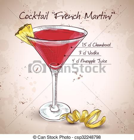 Vodka clipart cocktail EPS of cocktail French