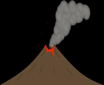 Brown clipart volcano #5076 Clip Public Art com