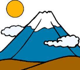 Volcano clipart blue Panda Volcano Clipart Art Clip
