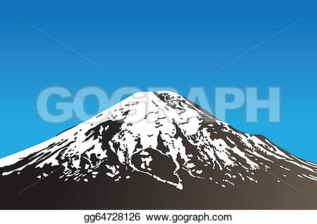 Volcano clipart blue (vector dormant Vector and