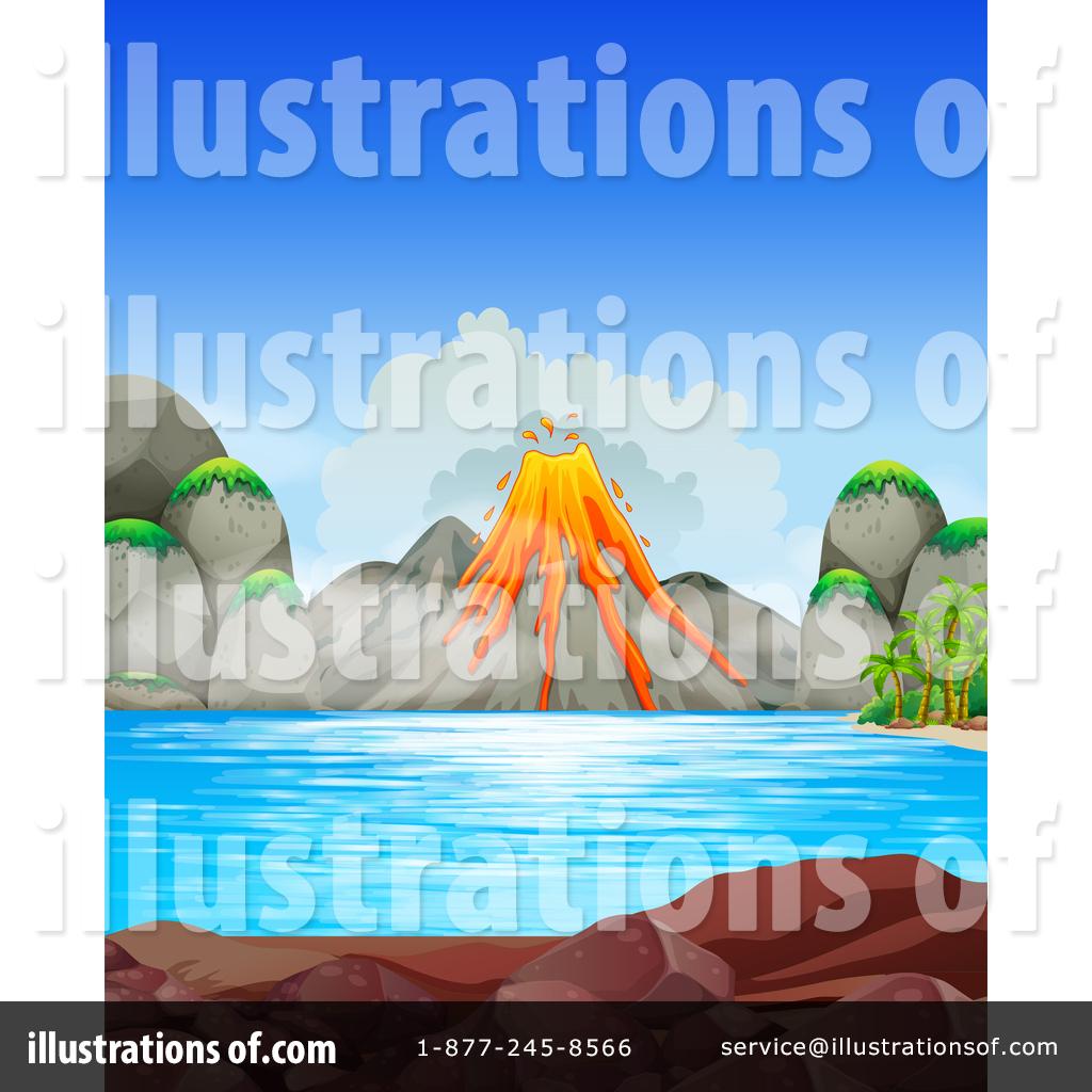 Volcano clipart blue Colematt Volcano Clipart Illustration by
