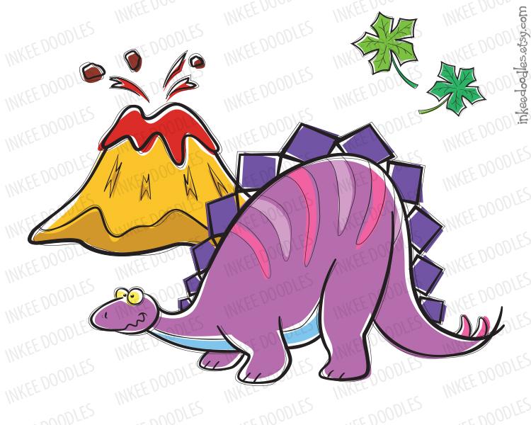 Stegosaurus clipart cute dinosaur Dinosaur Inkee Decorations Graphics Kids