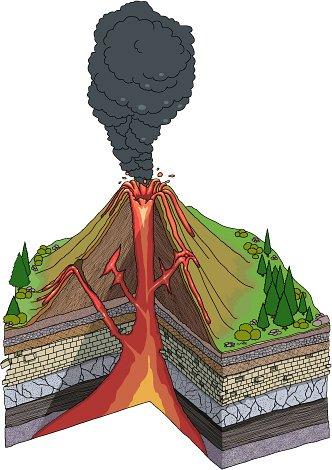 Earthquake clipart volcano Volcano clipart classroom image #15338