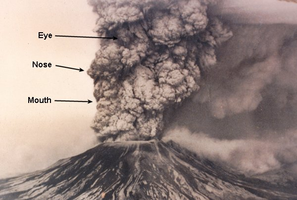 Volcano clipart face Mount The Helens in of