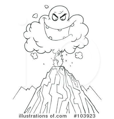 Volcano clipart face Toon Royalty Clipart (RF) Illustration