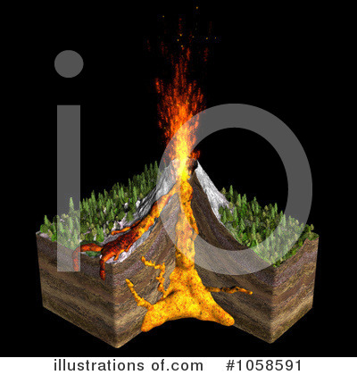 Volcano clipart fire #1058591 #1058591 Illustration Michael by