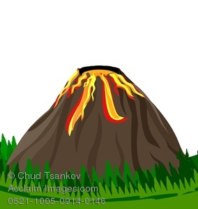 Volcano clipart high re Volcano of Image a From