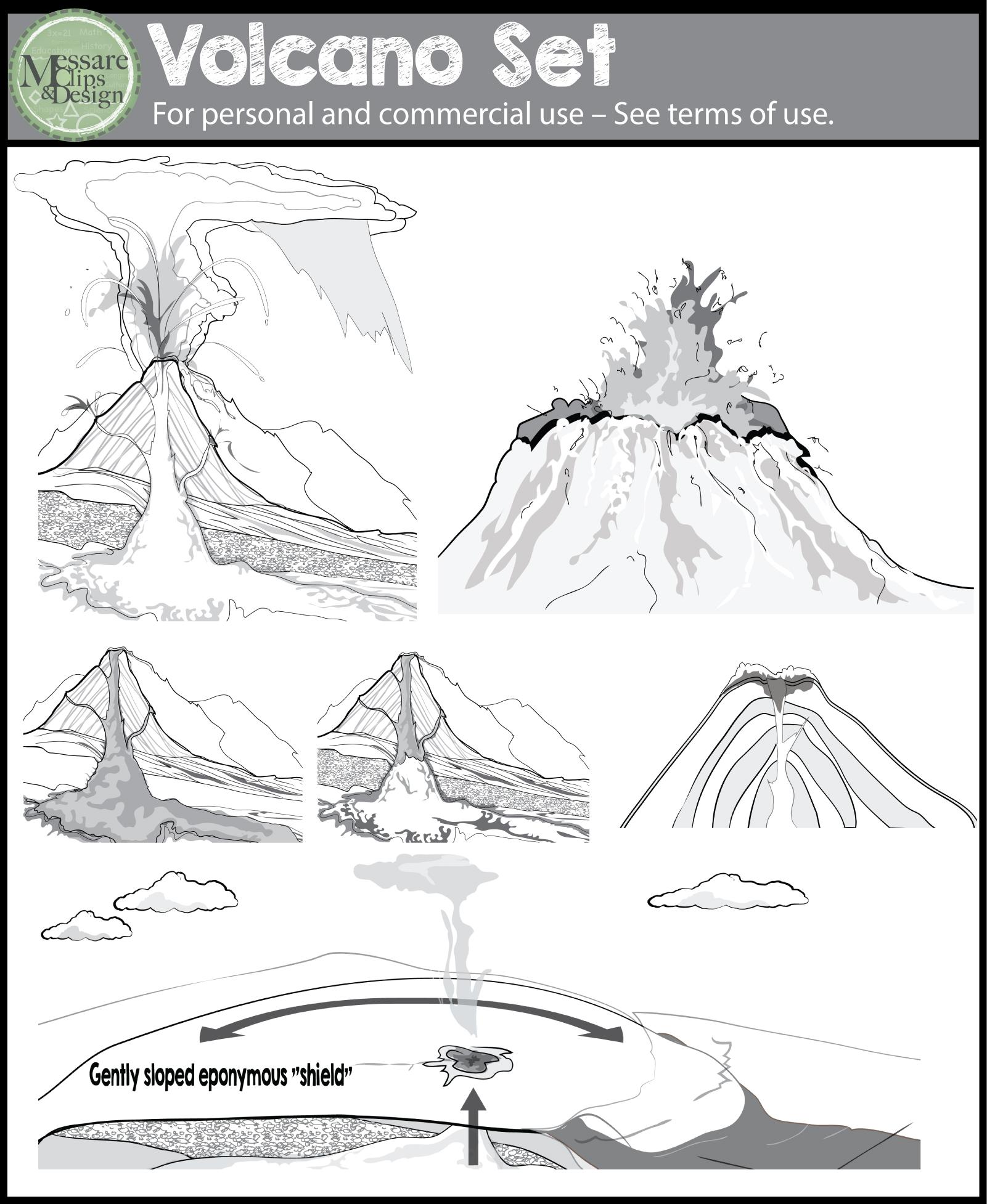 Volcano clipart high re The Volcano Volcano Volcanoes