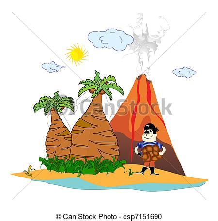 Volcano clipart hut Download clipart drawings Volcanic #17