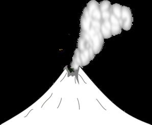 Volcano clipart outline Volcano Volcano art free clipart