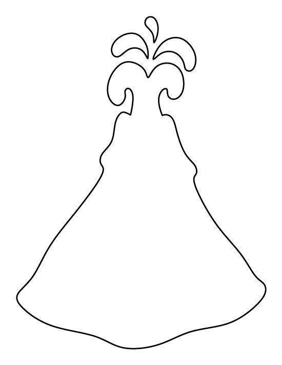Volcano clipart outline Printable  Printable Our Download