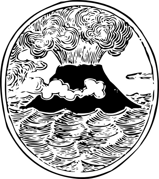 Earthquake clipart volcano Drawing 327 Volcano svg Open