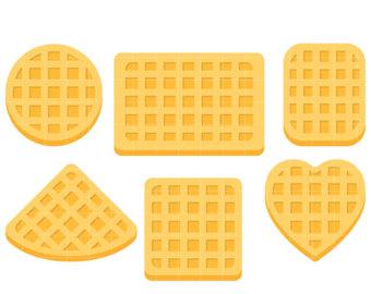 Waffle clipart Clip Card Shapes Belgian Art