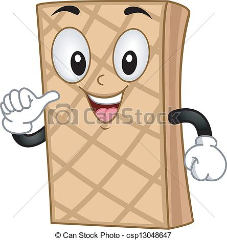 Wafer clipart Smiling Clipart Mascot royalty