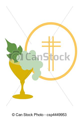 Wafer clipart first communion Csp4449953 of First of Drawings