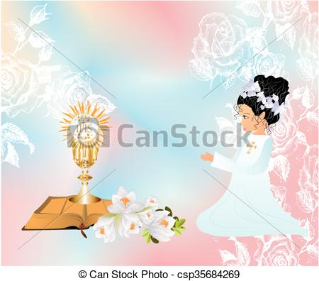 Wafer clipart first communion Communion the Vector Art Clip