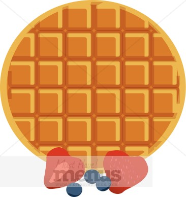 Pancake clipart waffle Breakfast Waffle Clipart Berries Clipart