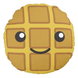 Waffle clipart cute cartoon Decorative Round Throw Pillows Zazzle