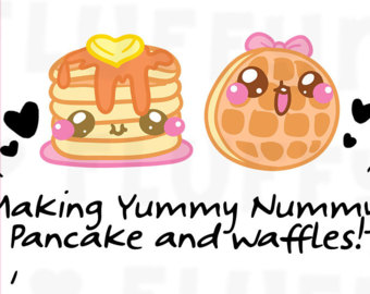 Waffle clipart cute cartoon For Planner Condren Stickers Waffle