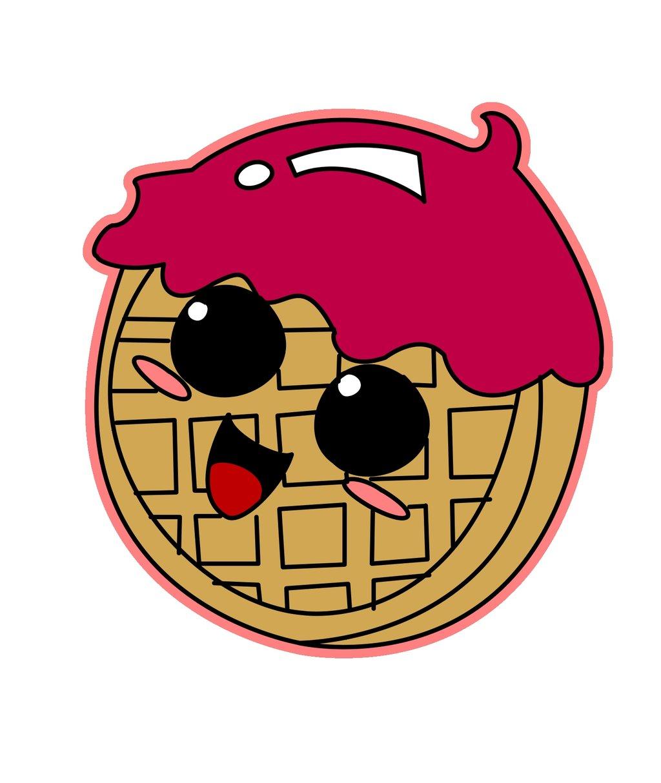 Waffle clipart cute cartoon Xneetoh xneetoh Waffle by xneetoh