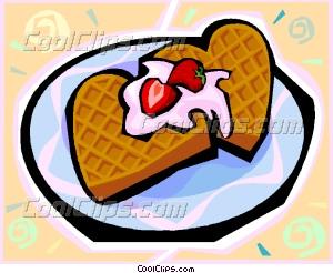 Waffle clipart cute cartoon Clip waffles Vector waffles art