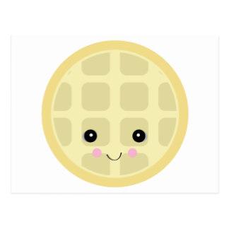 Waffle clipart cute cartoon Zazzle postcard Postcards Waffle kawaii