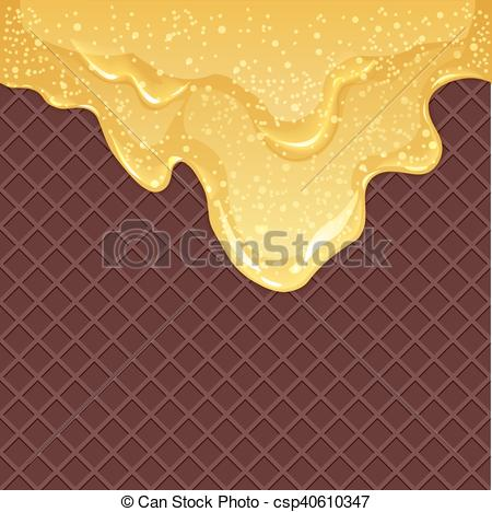 Waffle clipart honey With waffles bubbles with vector