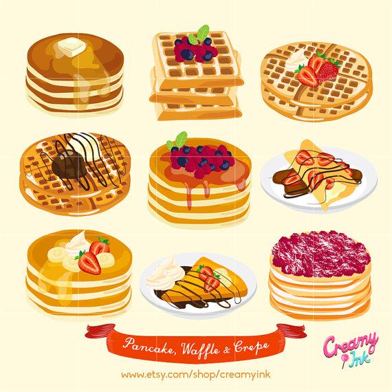 Pancake clipart waffle Design  / Pancake Cakes