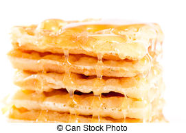 Waffle clipart pile White of of  with