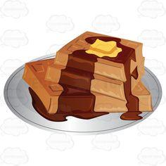 Waffle clipart pile Illustration Waffles Cartoon Butter