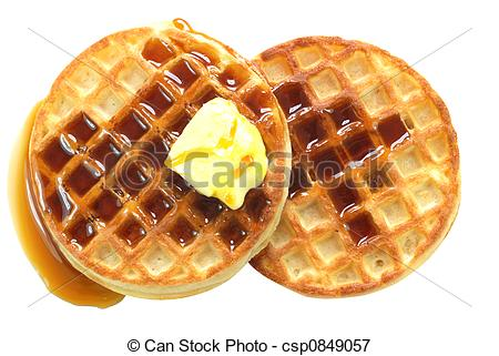 Waffle clipart syrup Waffles isolated Waffles with Syrup