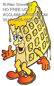 Waffle clipart syrup Of Syrup Waffle With Syrup