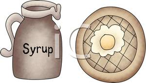 Waffle clipart syrup Image Clip on and Clip