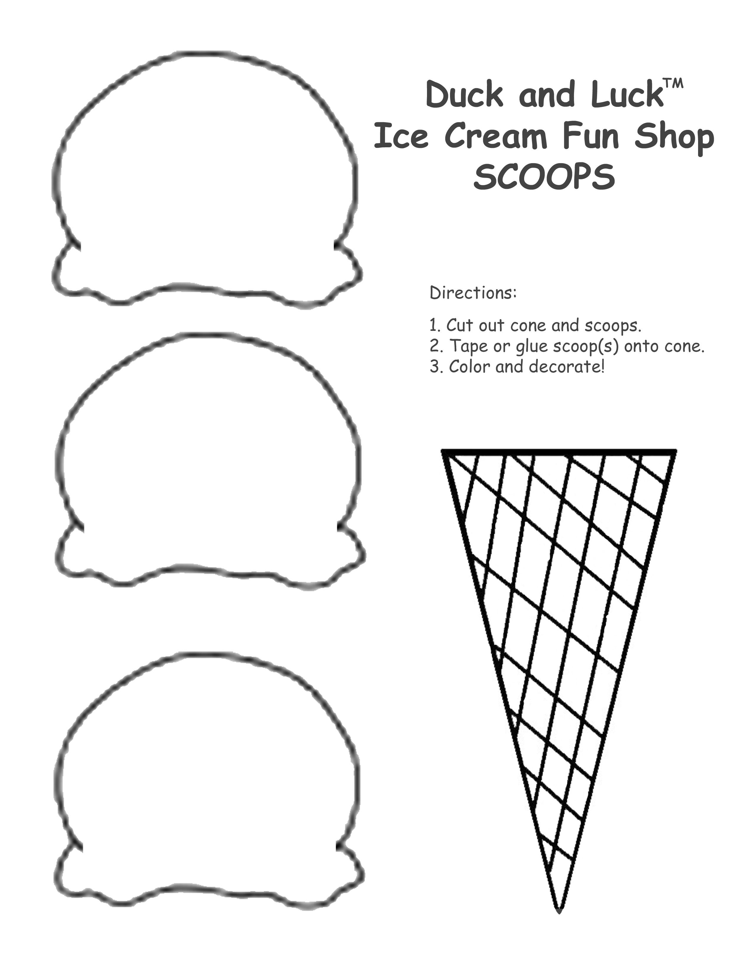 Waffle Cone clipart coloring page Cream pages pages cone