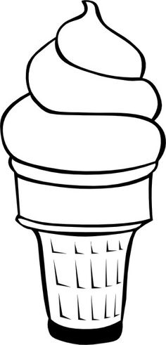 Waffle Cone clipart coloring page Pages Pages  Ice Ice
