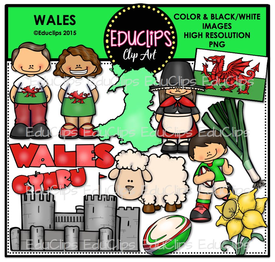 Wales clipart Welcome Store Wales Wishlist Bundle