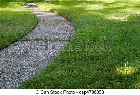 Walkway clipart curved path Of path and Photos stone