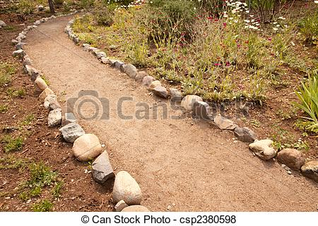Walkway clipart stone path Lined of Garden Garden River