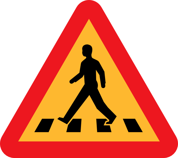 Highway clipart pedestrian lane Clker  at Crossing image