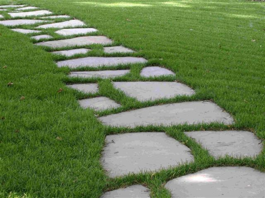 Walkway clipart curved path Stone stepping Walkways stone patio