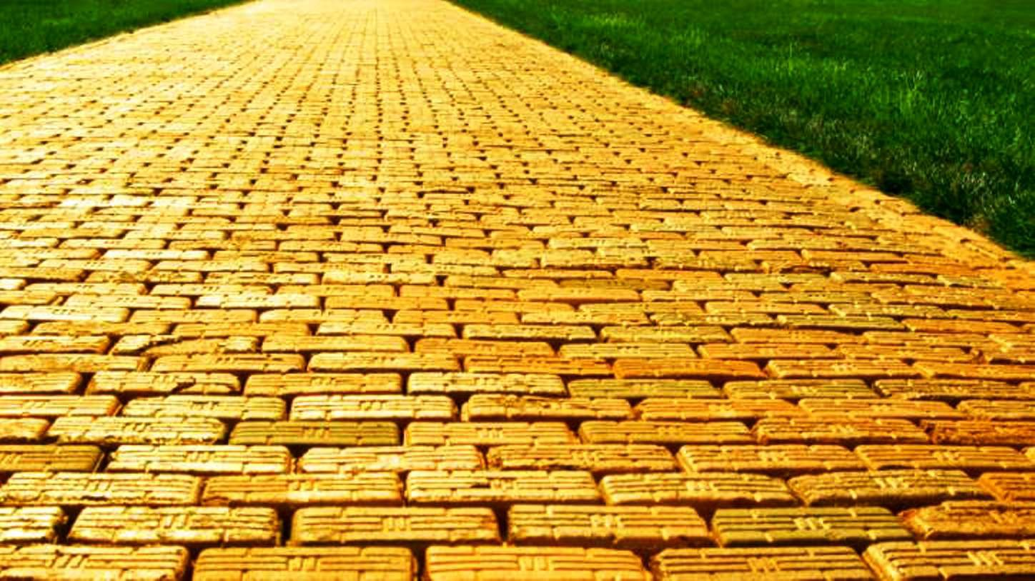 Road clipart brick path #8