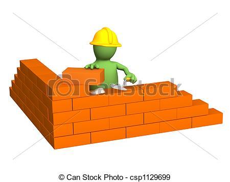 Brick clipart brick foundation  a 3d Illustration a
