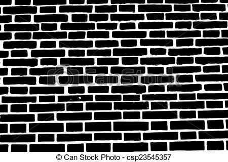Black clipart brick wall Old background brick Vector brick